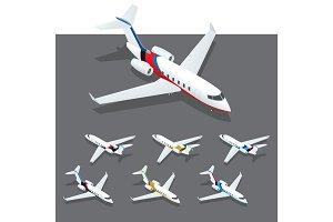 Isometric private jet