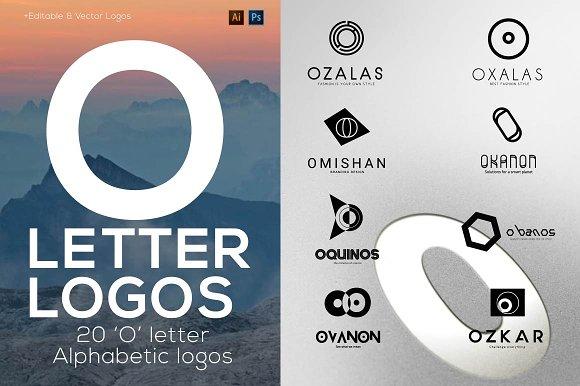 """20 """"O"""" Letter Alphabetic Logos"""