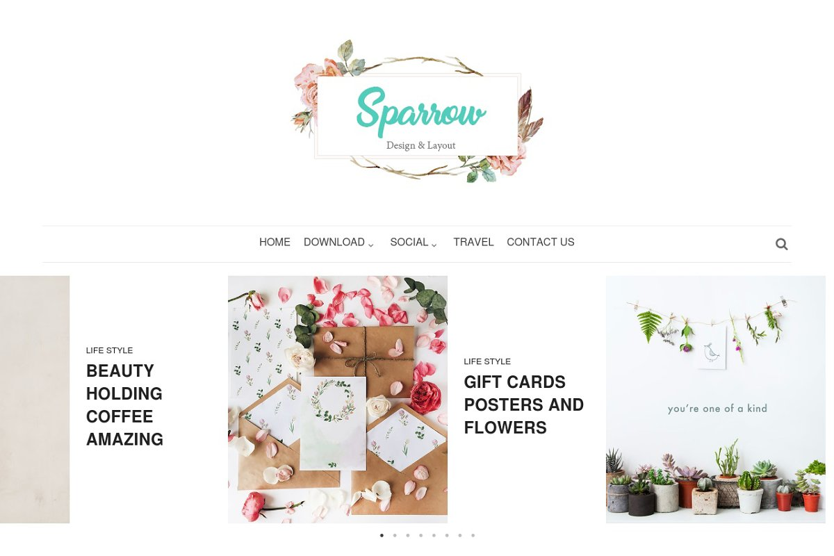 Sparrow Personal Blogger Template