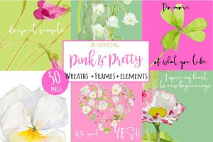 Pink&Pretty-wreaths+elements