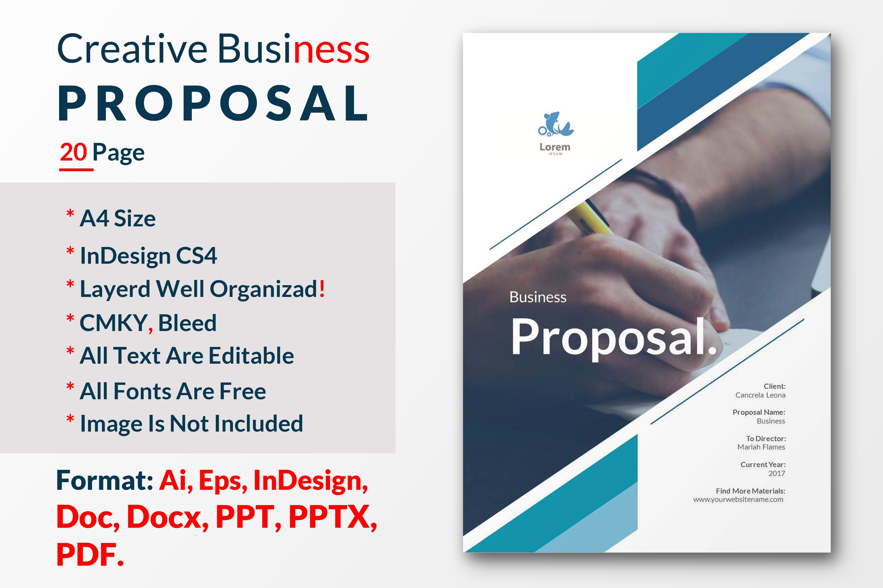 How to write a design proposal the ultimate guide creative market creative business proposal template cheaphphosting Choice Image