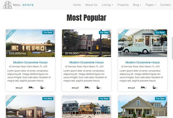 Real Estate Theme - Dream House in Bootstrap Themes