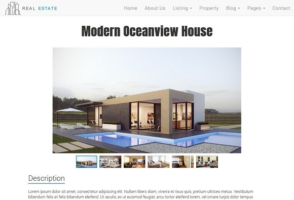 Real Estate Theme - Dream House in Bootstrap Themes - product preview 3