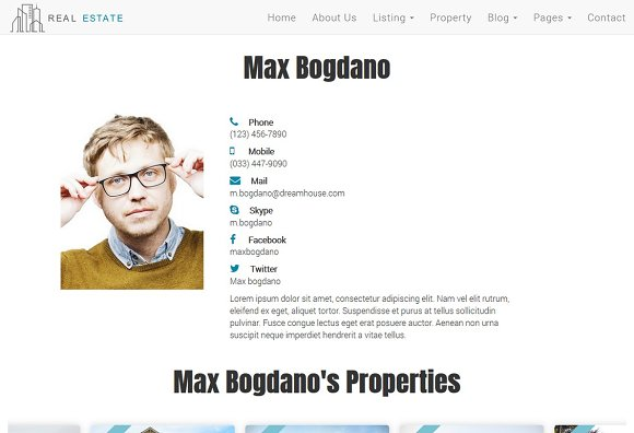 Real Estate Theme - Dream House in Bootstrap Themes - product preview 4