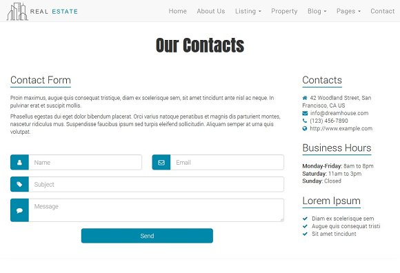 Real Estate Theme - Dream House in Bootstrap Themes - product preview 5
