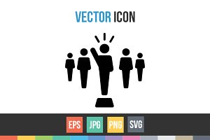 Leader, Vector Icon