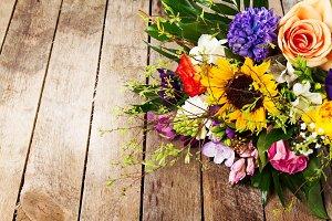Beautiful bunch of flower, closeup