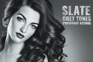 Slate Grey Tones Photoshop Actions