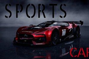 Sports font vector