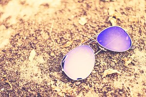 Fashion Blue Aviator Sunglasses