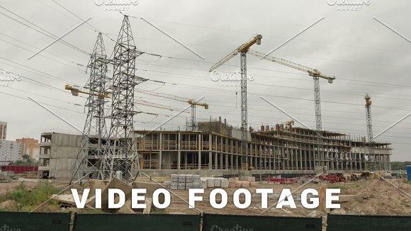 Construction Of A Building Time-lapse Shot