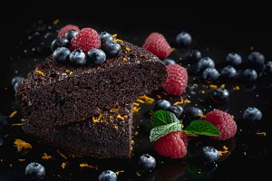 Delicious chocolate cakes