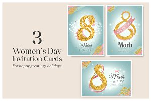 Women`s Day Invitation Cards