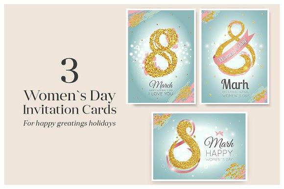 Women`s Day Invitation Cards