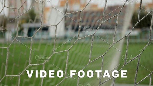 Soccer Gate Net Close-up Shot
