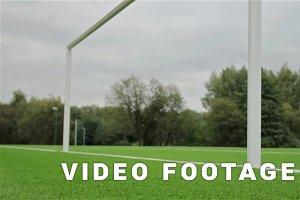 Behind the football gate view. Slider shot
