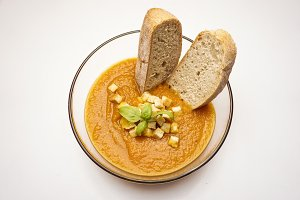 Ecological carrot soup