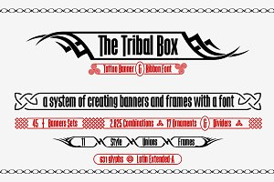 The Tribal Box -banner font-