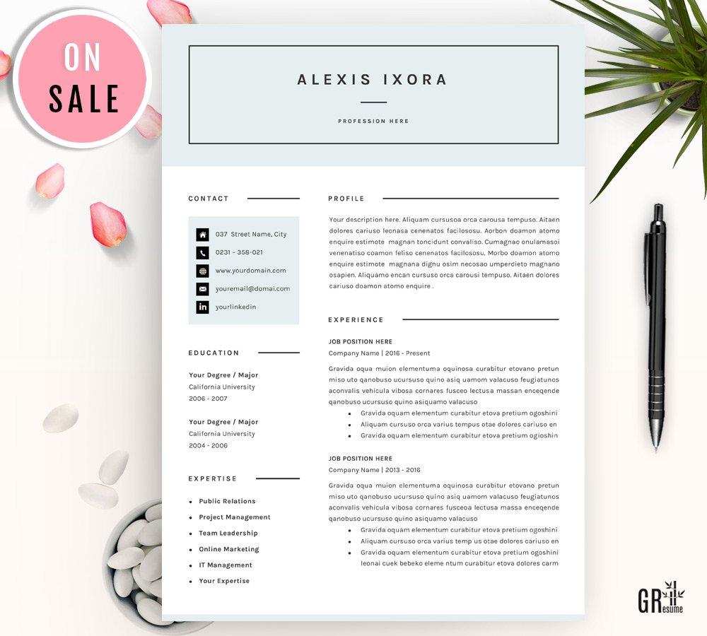 Professional Resume / CV Template ~ Resume Templates ~ Creative Market