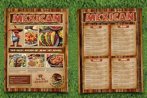 Mexican Food Menu Flyer