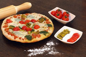 Italian Pizza, cooking at home