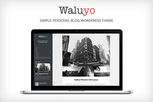 Waluyo - Simple Personal Blog Theme