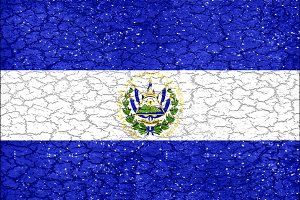 El Salvador Grunge Style National Flag