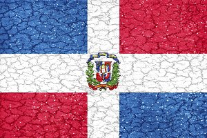 Domincan Repulbic Grunge Style National Flag