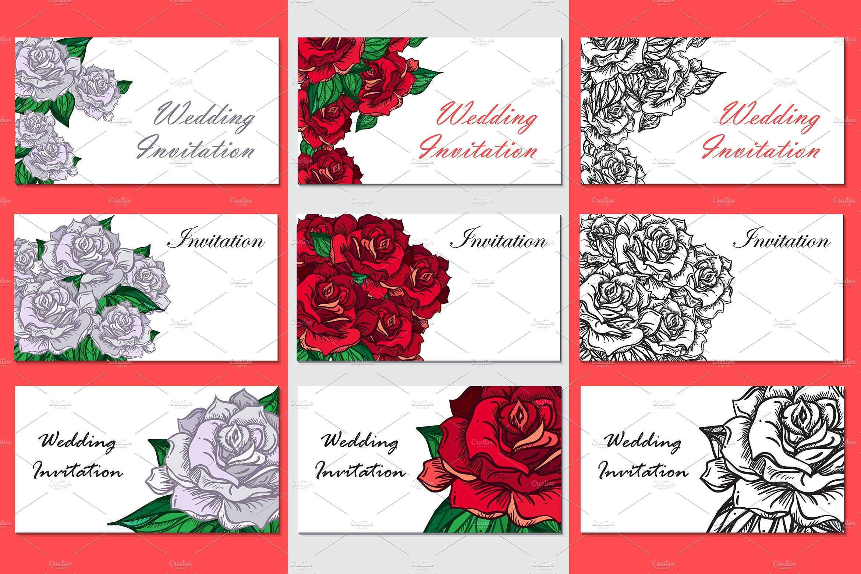 Romantic Roses Templates ~ Illustrations ~ Creative Market
