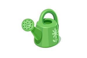 Watering can. Garden instrument.