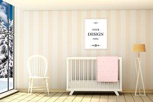 Abstract cozy children's room