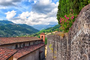 City in the hills of Tuscany