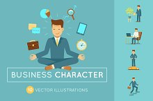 Business character. 10 illustrations