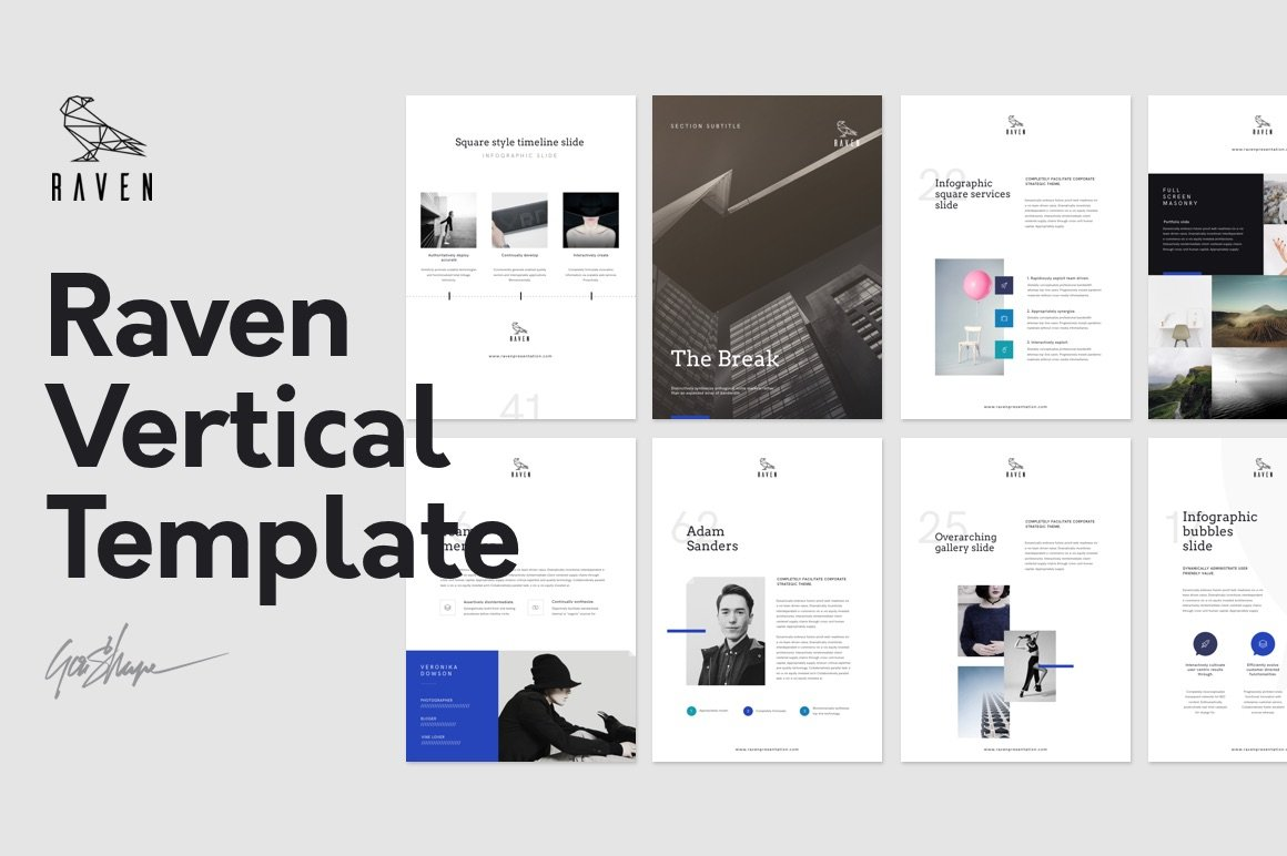 keynote brochure template - raven vertical keynote template presentation templates