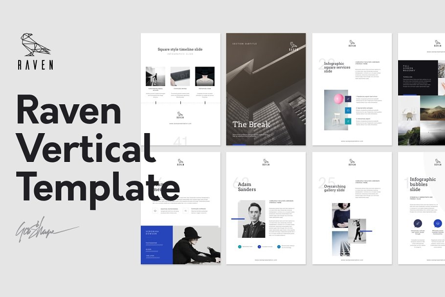 Raven Vertical Keynote Template ~ Keynote Templates ~ Creative Market