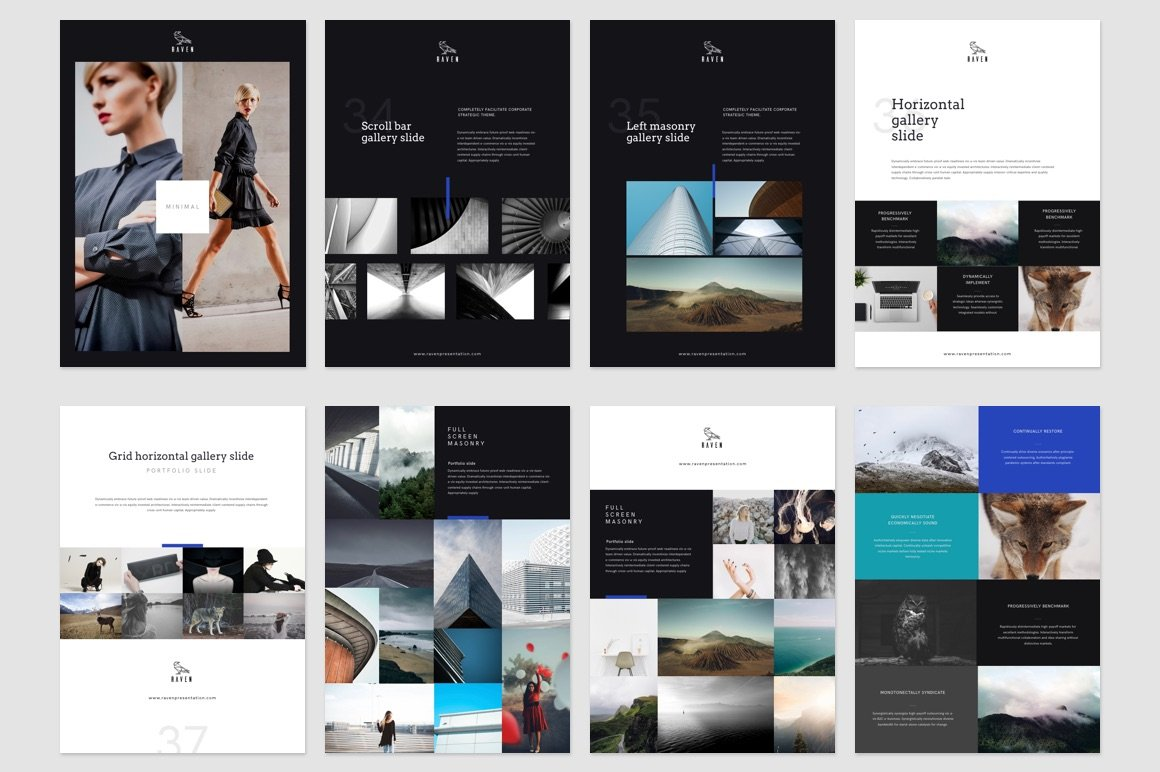 Raven Vertical Keynote Template - Presentation Templates | Creative ...
