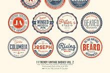 11 Trendy Vintage Badges Volume 2