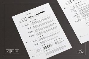 Resume/CV - Grady