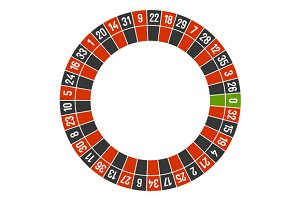 Roulette Casino Wheel Template