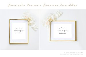 Gold Frame Styled Stock Image