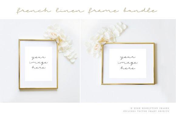 Gold Frame Styled Stock Image
