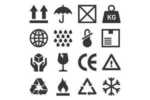 Packaging and Shipping Symbols