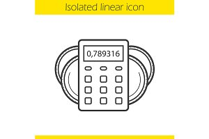 Income calculations icon. Vector