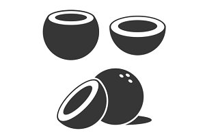 Coconut Icons set