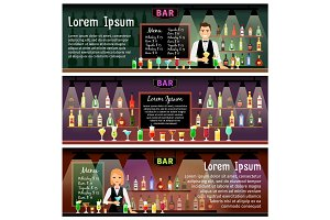 Bar banners set