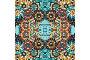 Colorful ornamental floral decorative pattern