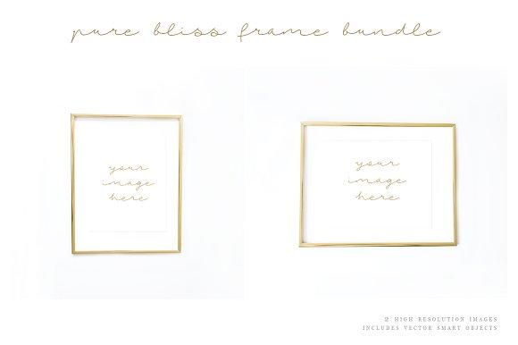 Gold Frame Mockups