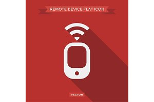 Remote device that transmits a signal vector design icon logo