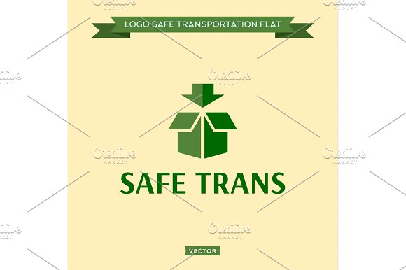 Logo Safe Delivery Open Box With An Arrow Vector Logo Illustrations Icon