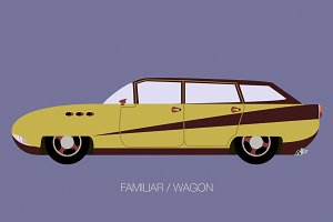 retro station wagon car